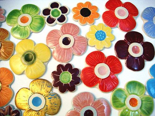 可爱花朵图案拼图